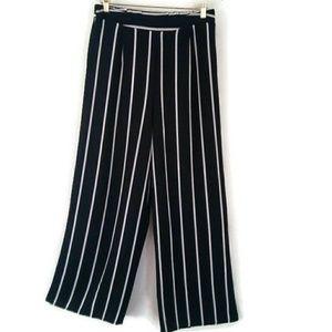 Iris Striped Pants Black &White